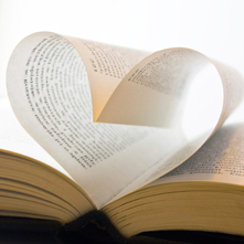 Book Pages Heart Shaped