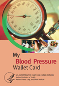 Blood Pressure Wallet Card